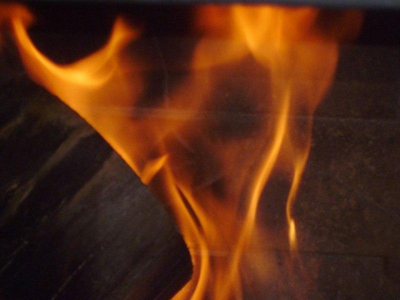 Огънят в камината